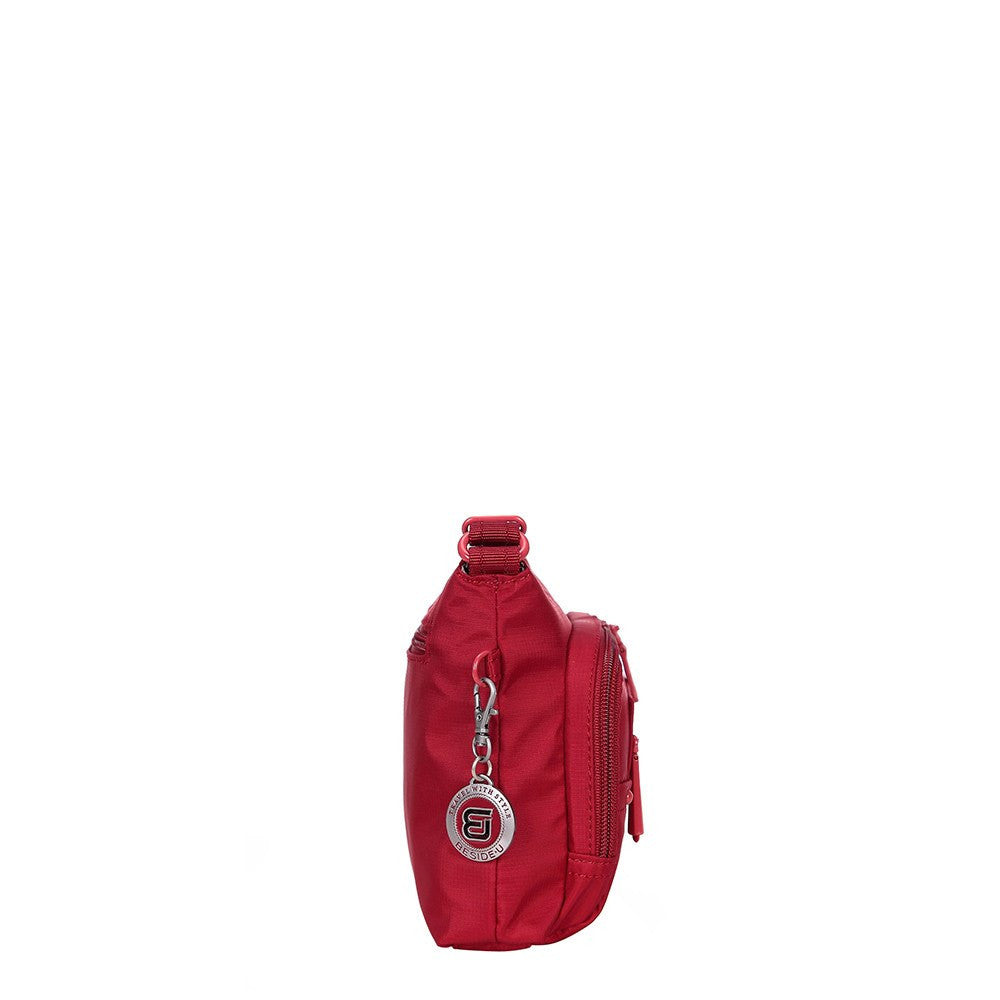 Crossbody Bag - Sandbach RFID Pocket Small Travel Crossbody Bag Side [Jester Red]