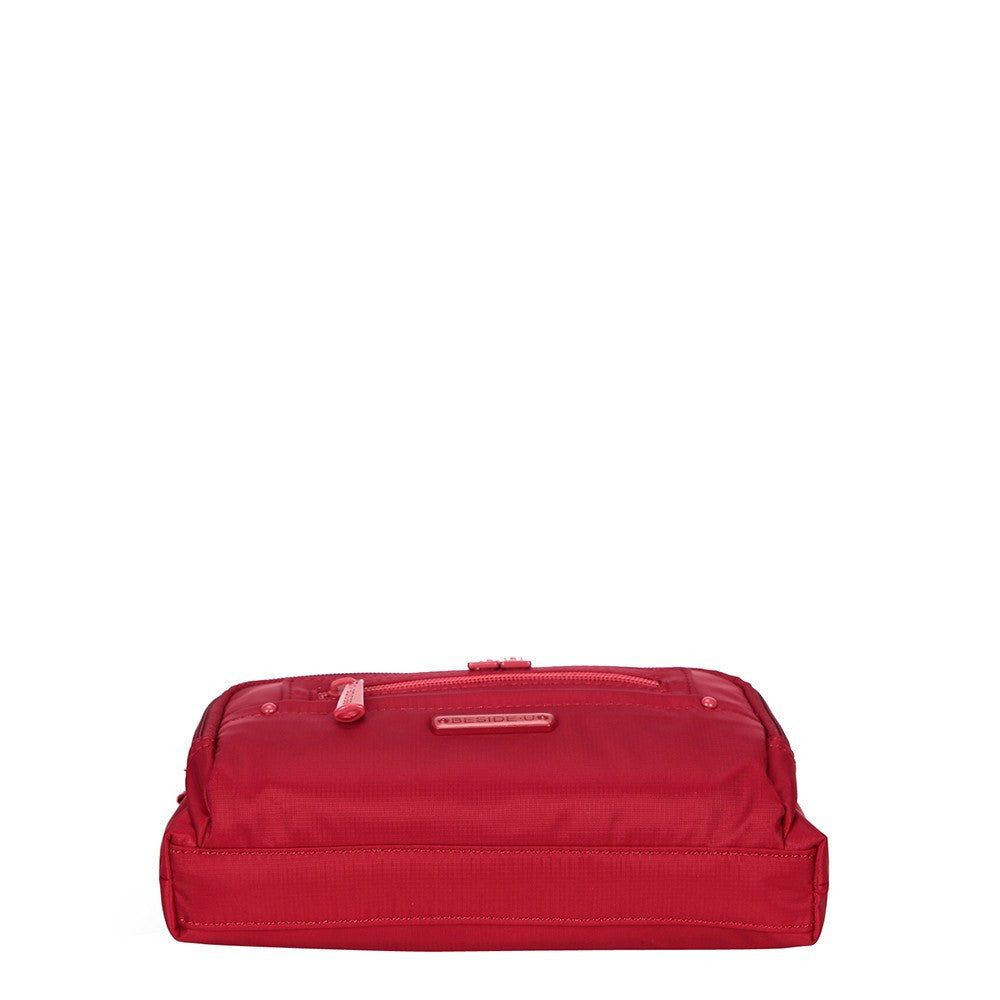 Crossbody Bag - Sandbach RFID Pocket Small Travel Crossbody Bag Bottom [Jester Red]
