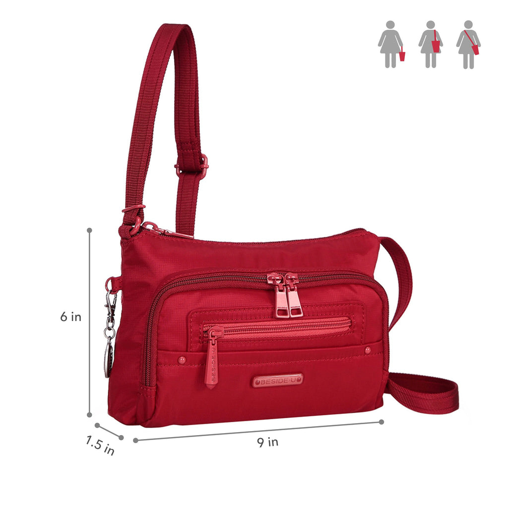 Crossbody Bag - Sandbach RFID Pocket Small Travel Crossbody Bag Size [Jester Red]