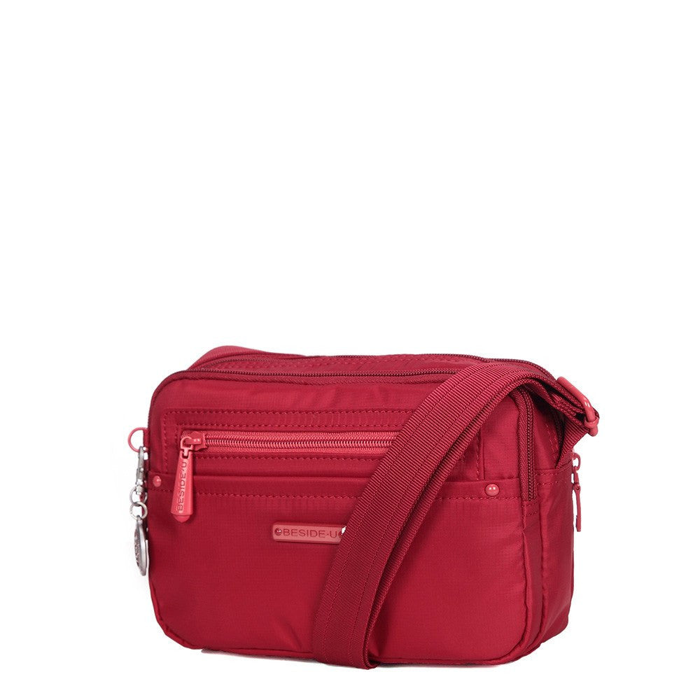 Crossbody Bag - Tomah RFID Pocket Small Crossbody Bag Angled [Jester Red]