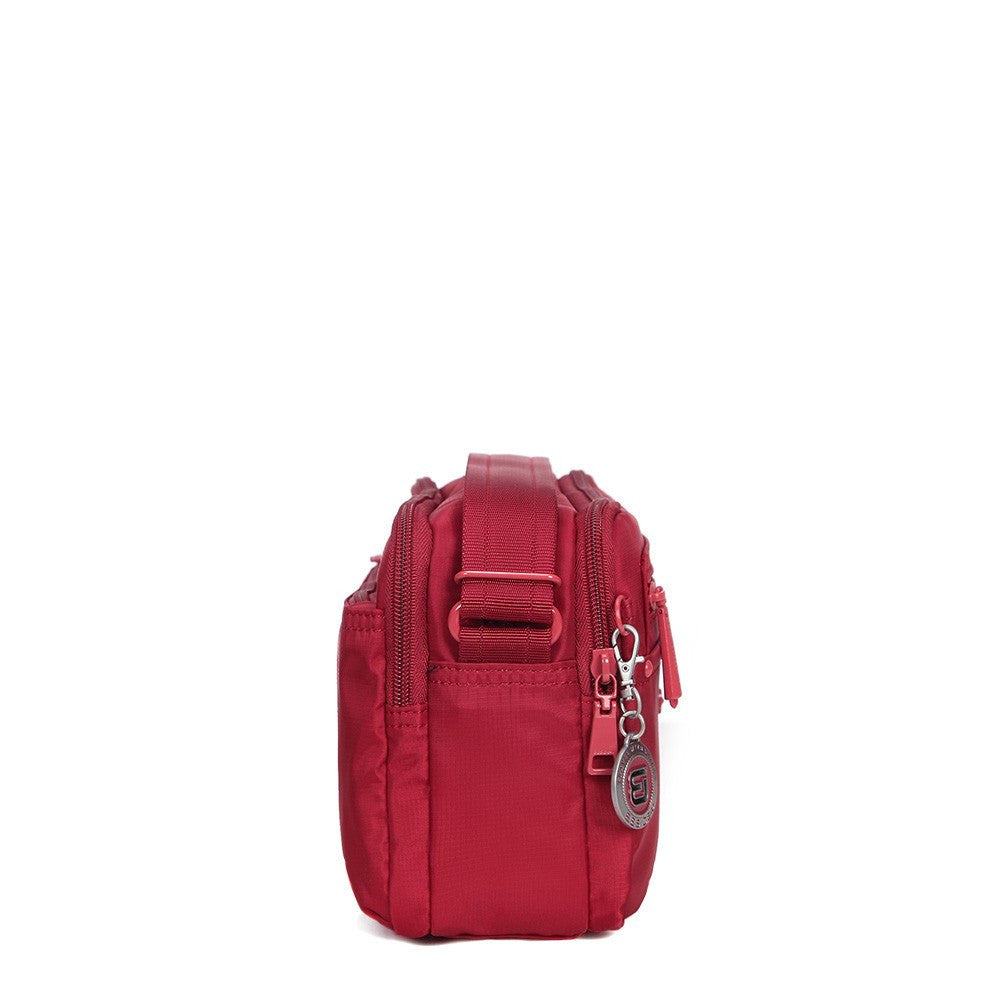 Crossbody Bag - Tomah RFID Pocket Small Crossbody Bag Side [Jester Red]