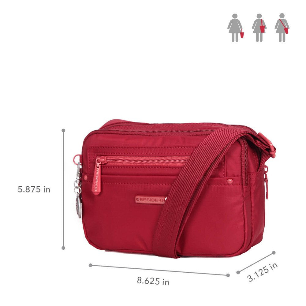 Crossbody Bag - Tomah RFID Pocket Small Crossbody Bag Size [Jester Red]