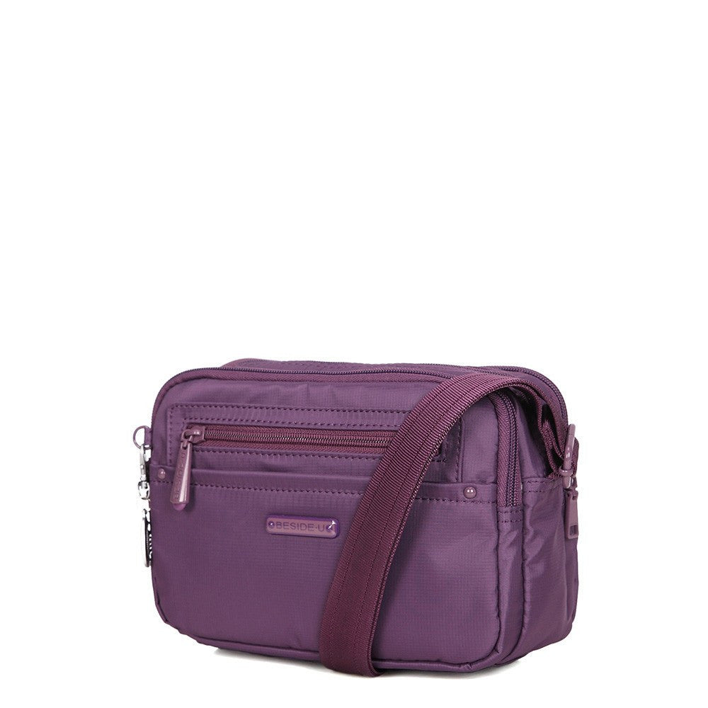 Crossbody Bag - Tomah RFID Pocket Small Crossbody Bag Angled [Wineberry Purple]