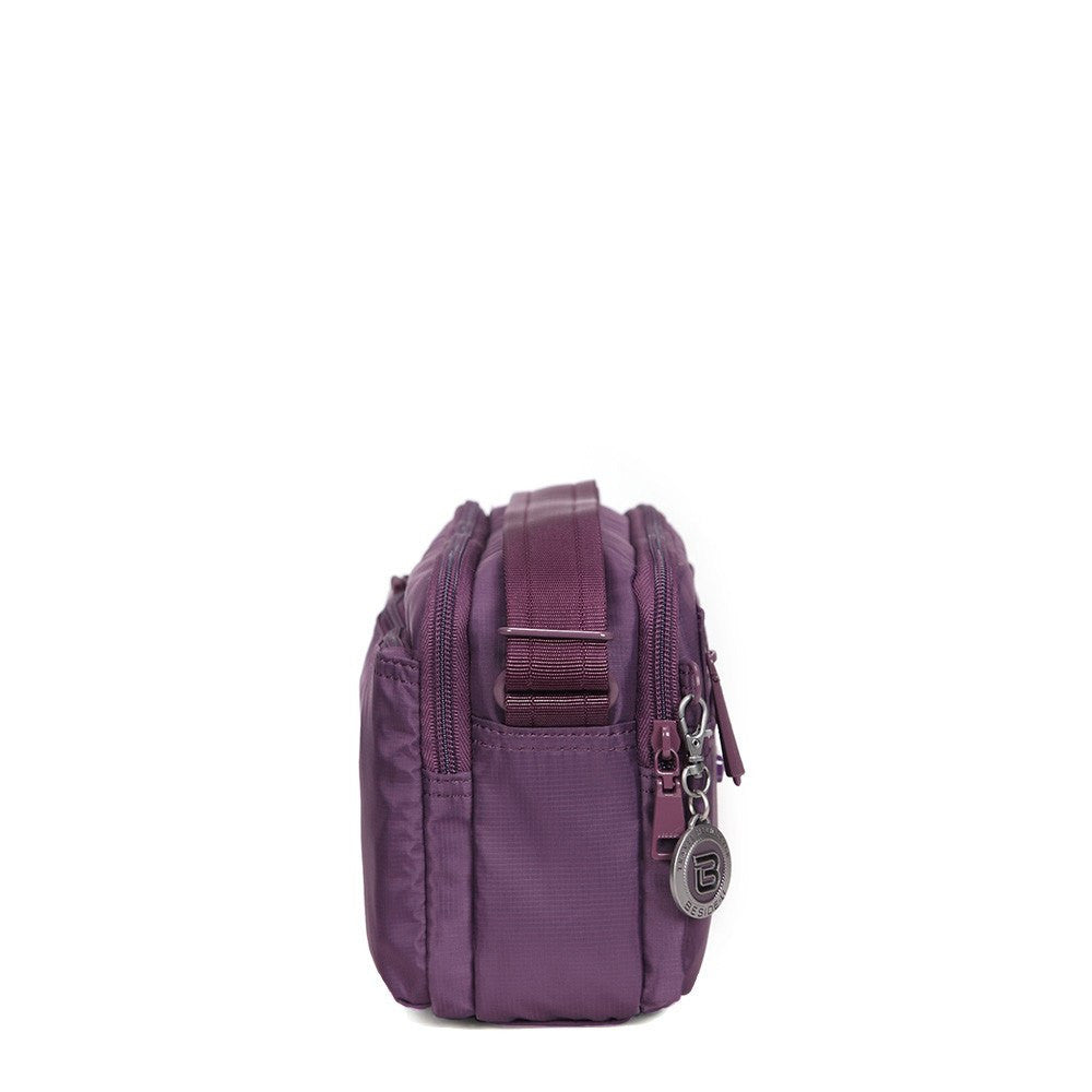 Crossbody Bag - Tomah RFID Pocket Small Crossbody Bag Side [Wineberry Purple]