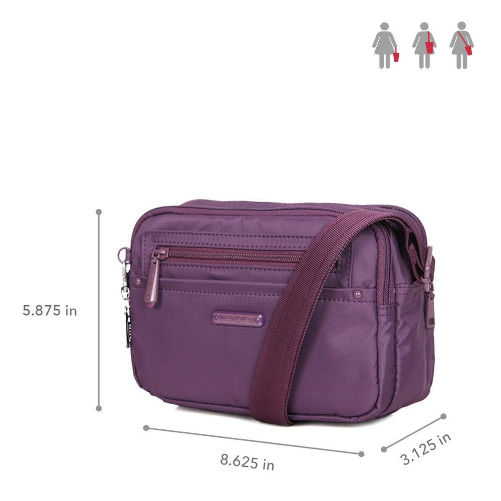 Crossbody Bag - Tomah RFID Pocket Small Crossbody Bag Size [Wineberry Purple]