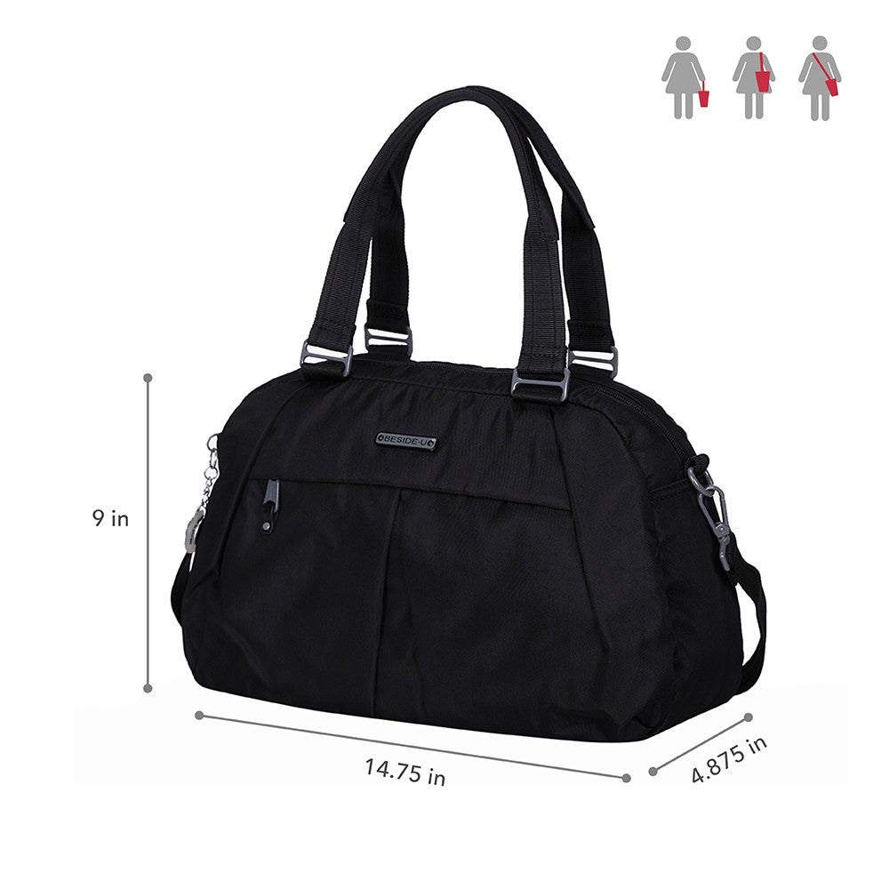 Satchel Handbag - Amaris RFID Pocket Multi-Functional Satchel Handbag Size [Black]