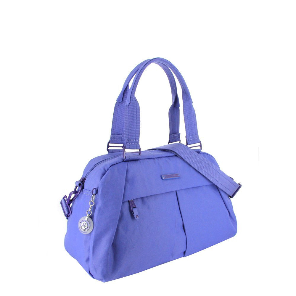 Satchel Handbag - Amaris RFID Pocket Multi-Functional Satchel Handbag Angled [New Amparo Blue]