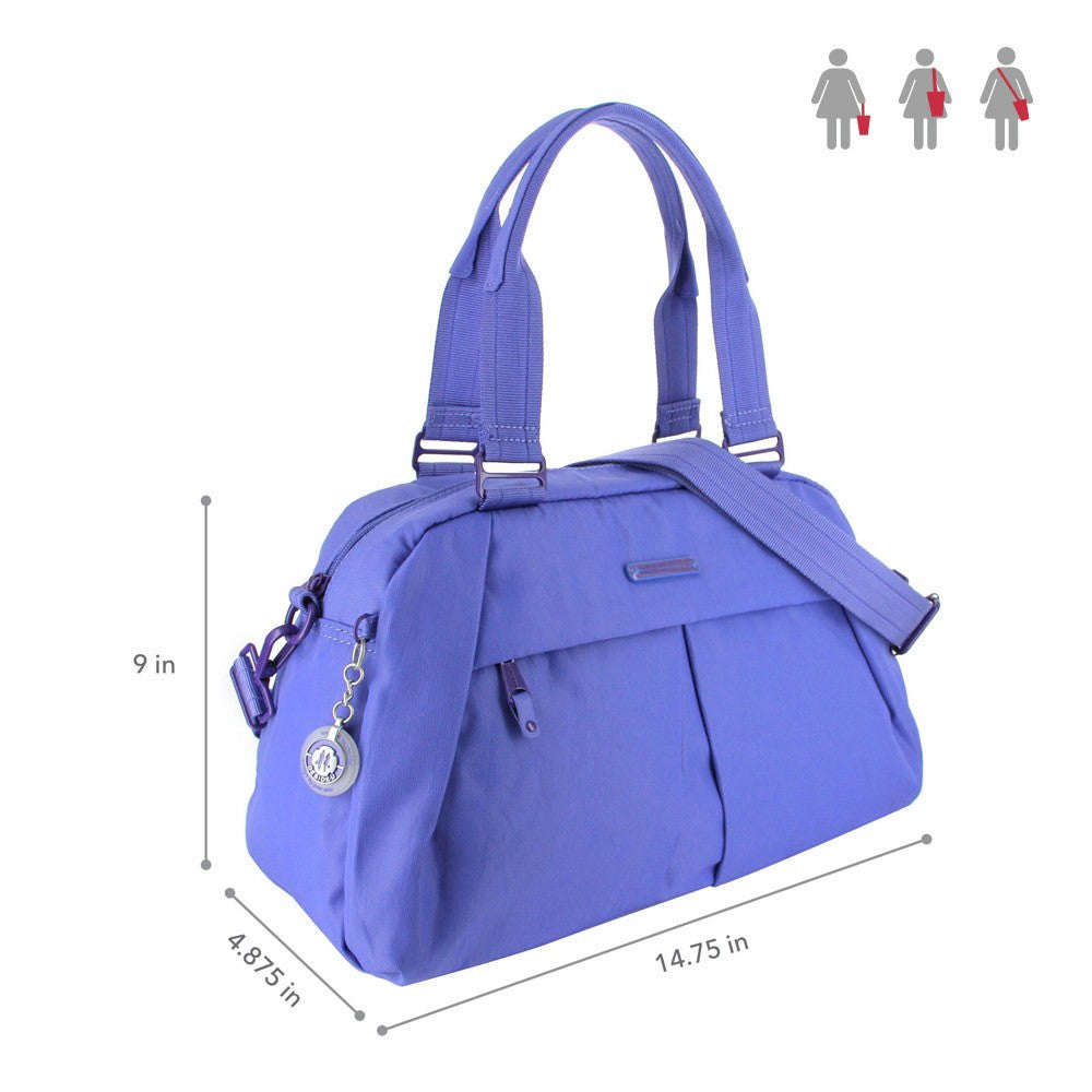 Satchel Handbag - Amaris RFID Pocket Multi-Functional Satchel Handbag Size [New Amparo Blue]