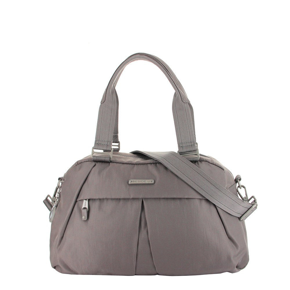 Satchel Handbag - Amaris RFID Pocket Multi-Functional Satchel Handbag Front [Cord Brown]