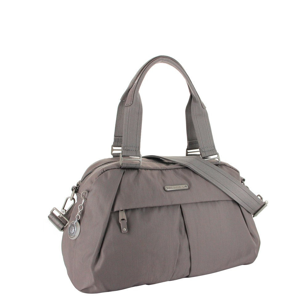 Satchel Handbag - Amaris RFID Pocket Multi-Functional Satchel Handbag Angled [Cord Brown]
