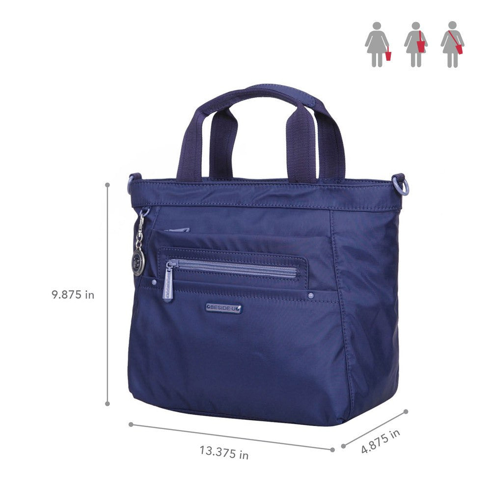 Satchel Handbag - Antioch RFID Pocket Multi Function Satchel Handbag Size [Blue Depths]