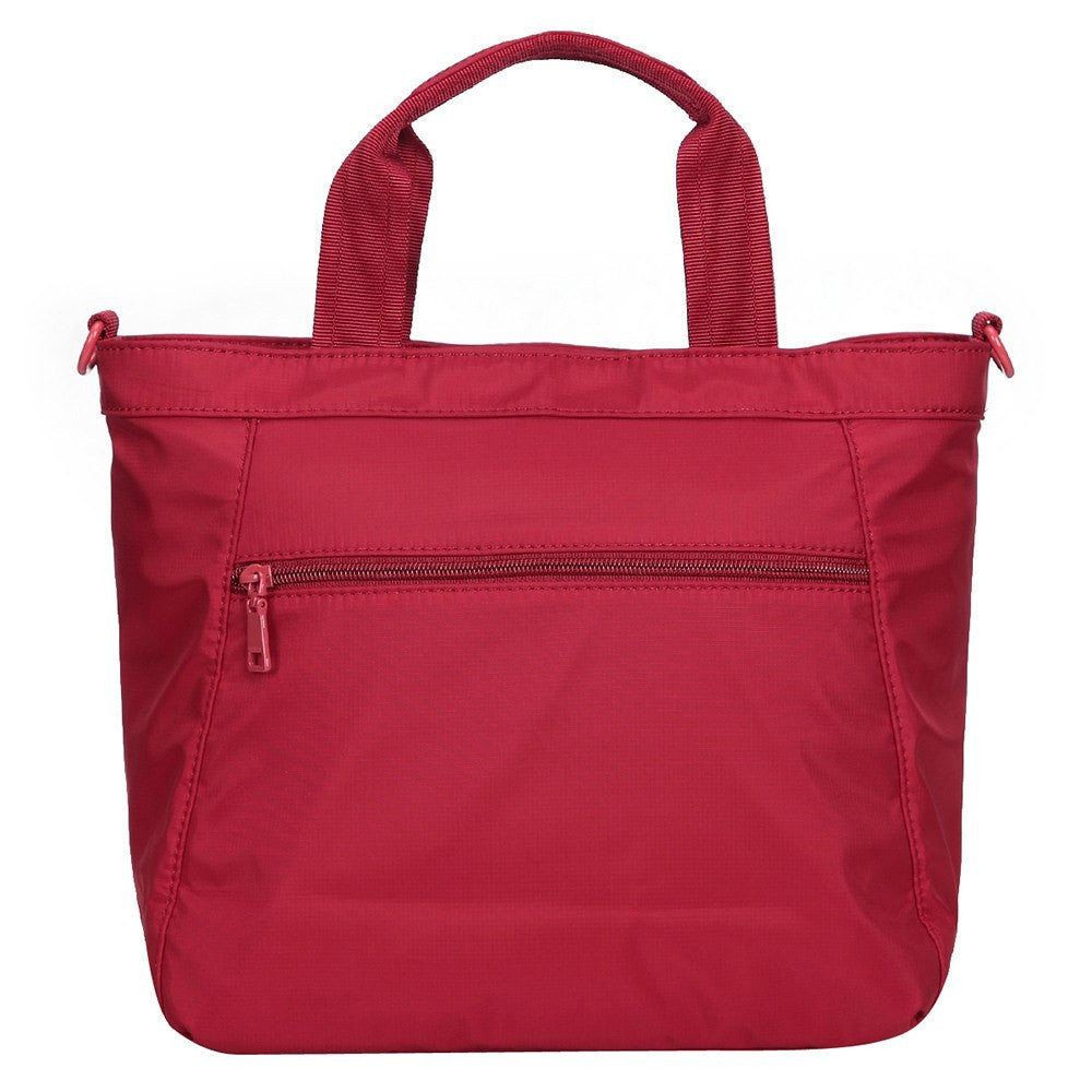 Satchel Handbag - Antioch RFID Pocket Multi Function Satchel Handbag Back [Jester Red]