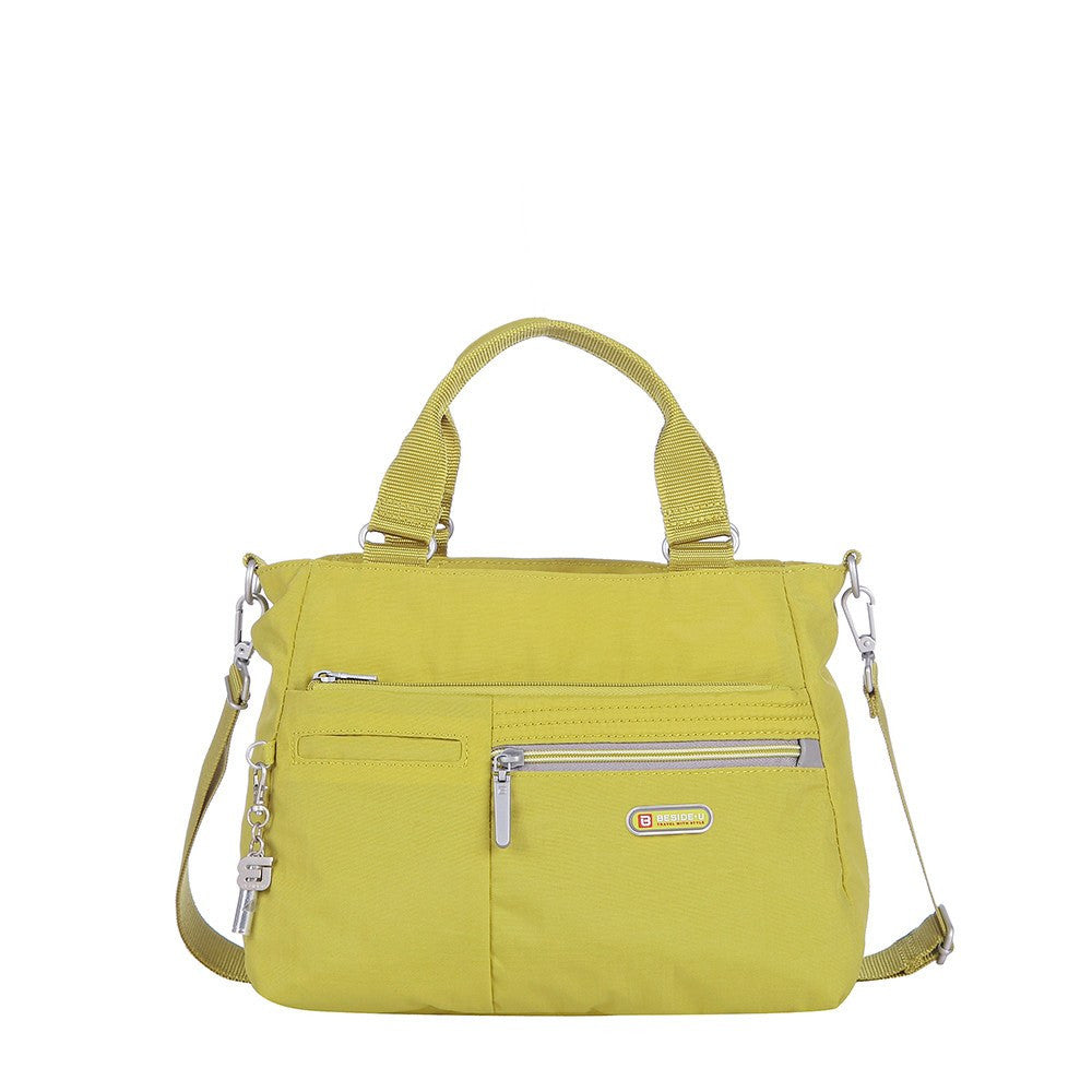 Satchel Handbag - Brussels Two-Tone Convertible Satchel Handbag Front [Citronelle Green]