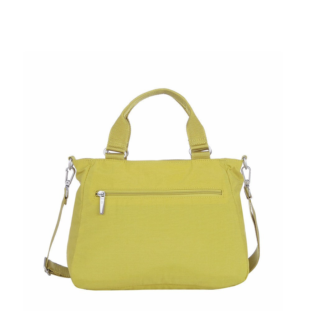 Satchel Handbag - Brussels Two-Tone Convertible Satchel Handbag Back [Citronelle Green]