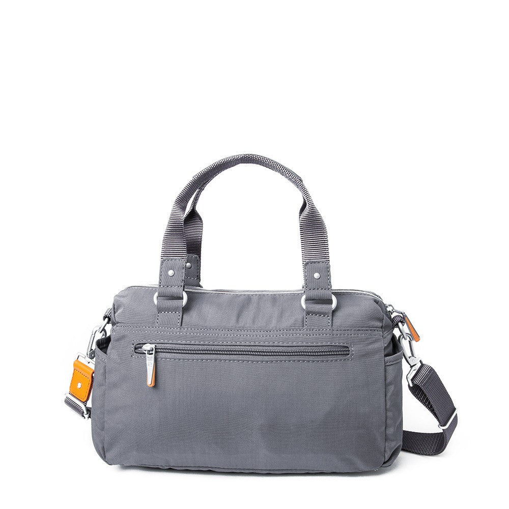 Satchel Handbag - Dijon Two-Tone Small Convertible Satchel Handbag Back [Castlerock Grey]