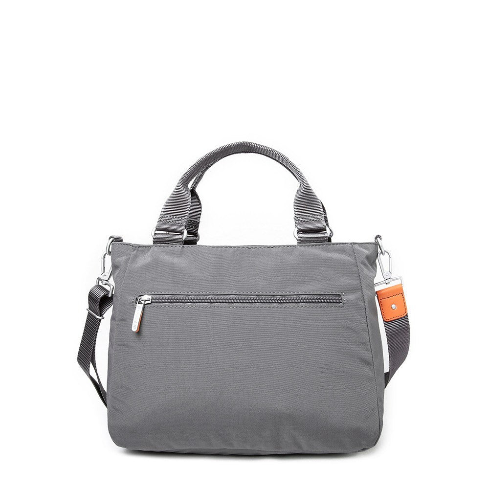 Satchel Handbag - Kenora Two-Tone Convertible Satchel Handbag Back [Castlerock Grey]