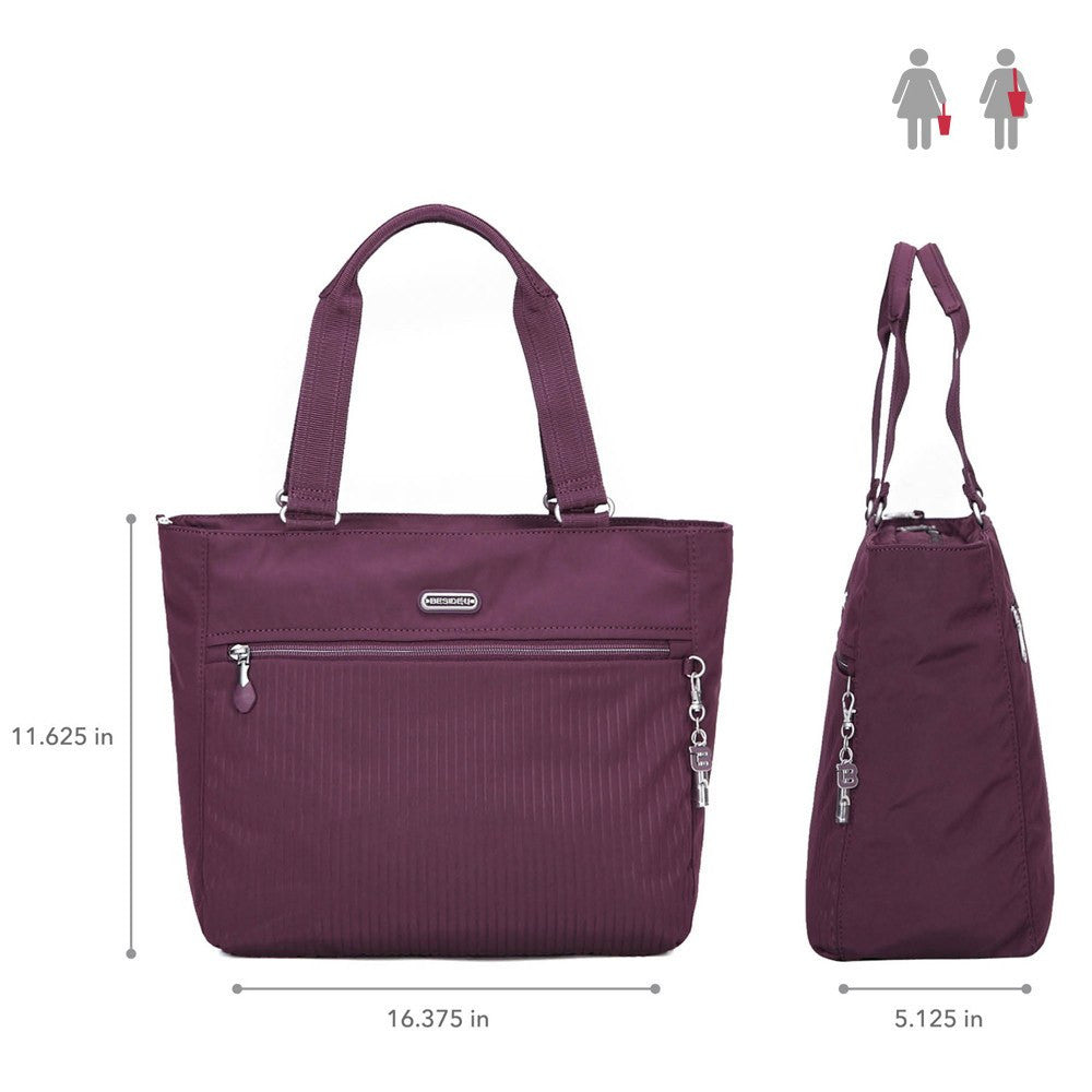 Tote Bag - Taylor Debossed Travel Tote Bag Size [Blackberry Wine]