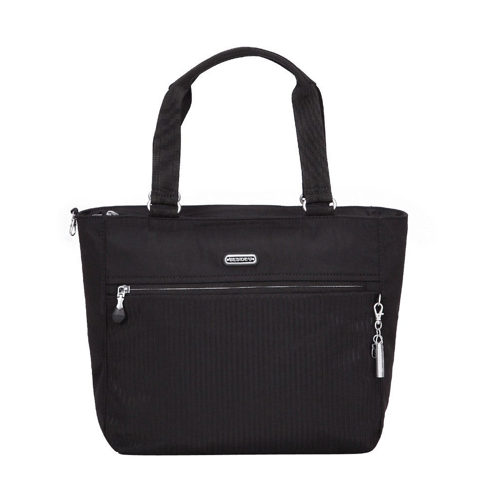 Tote Bag - Taylor Debossed Travel Tote Bag Front [Black]