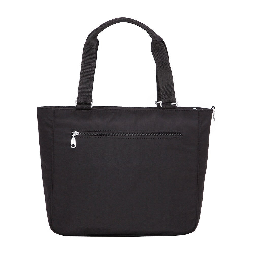 Tote Bag - Taylor Debossed Travel Tote Bag Back [Black]
