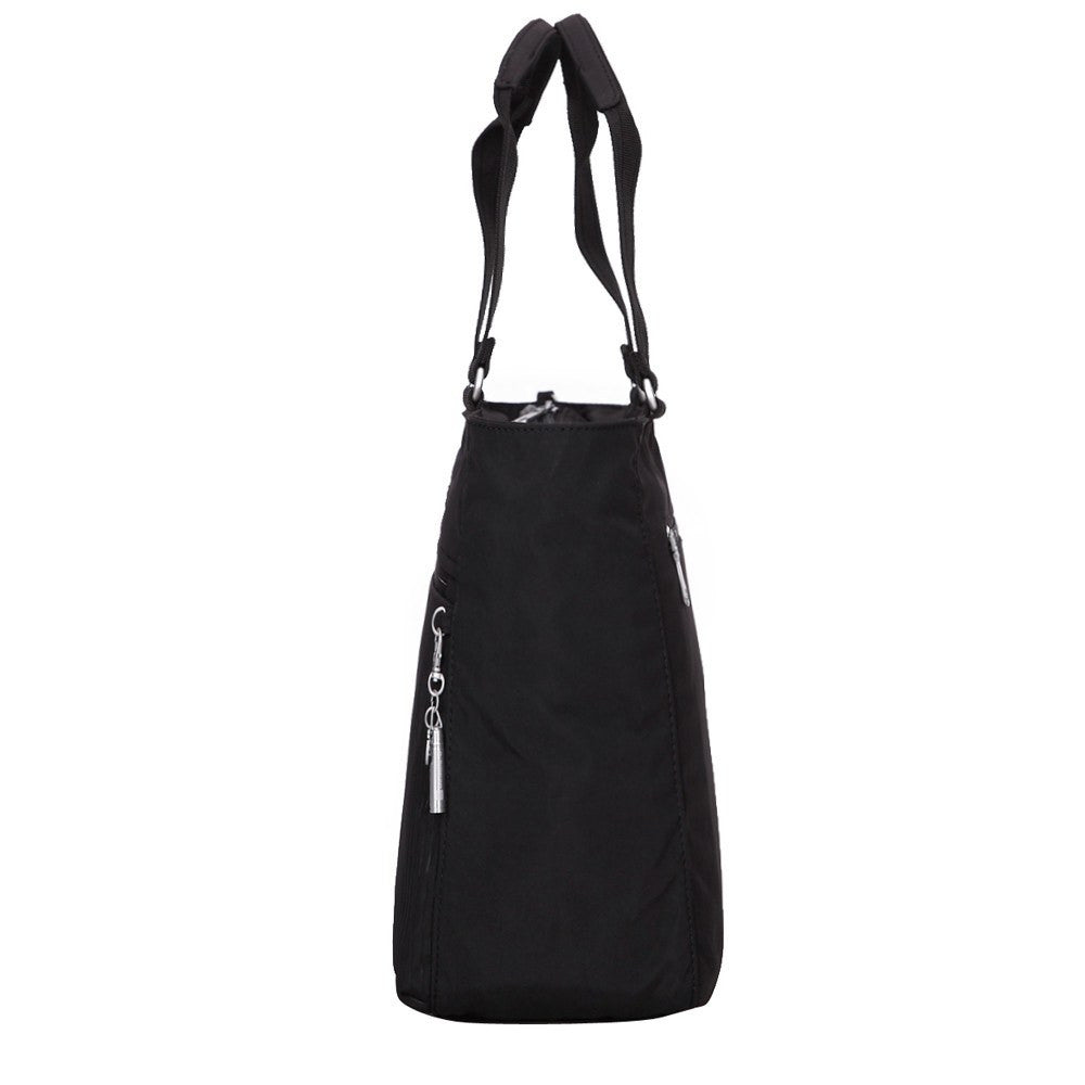 Tote Bag - Taylor Debossed Travel Tote Bag Side [Black]