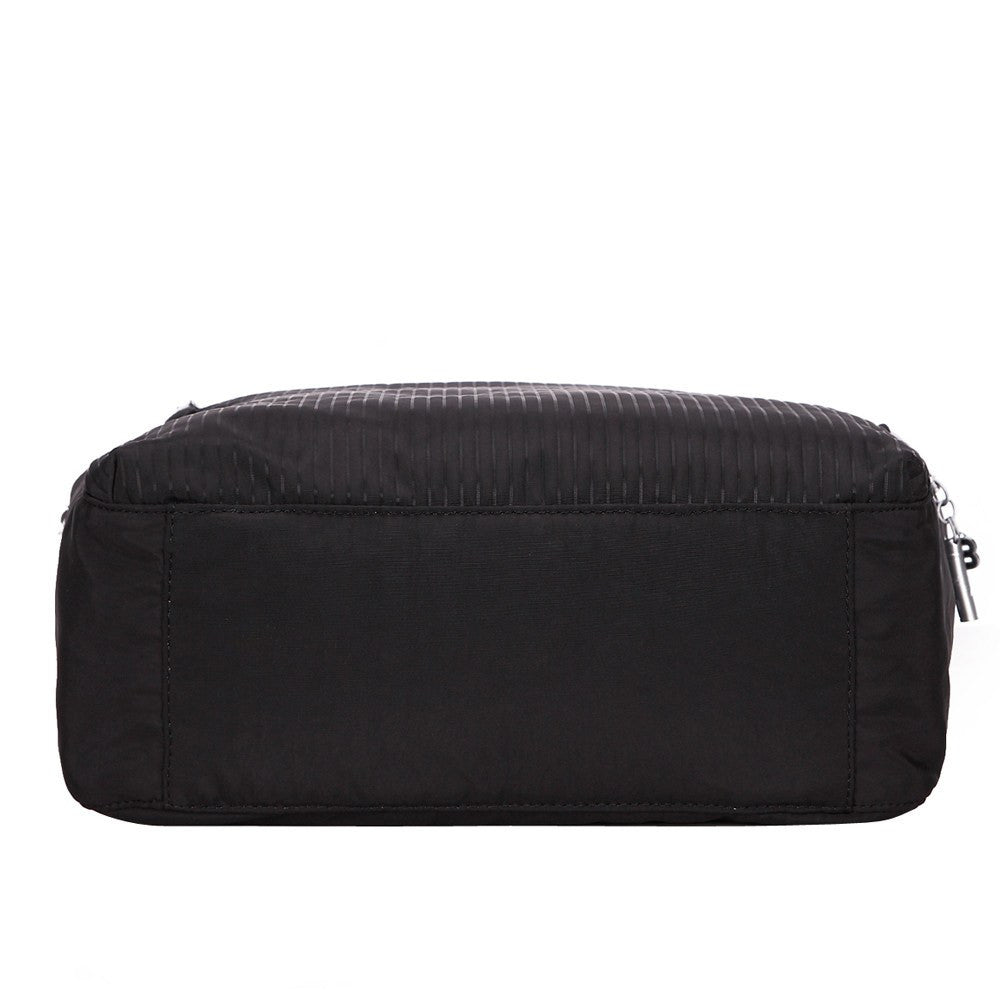 Tote Bag - Taylor Debossed Travel Tote Bag Bottom [Black]