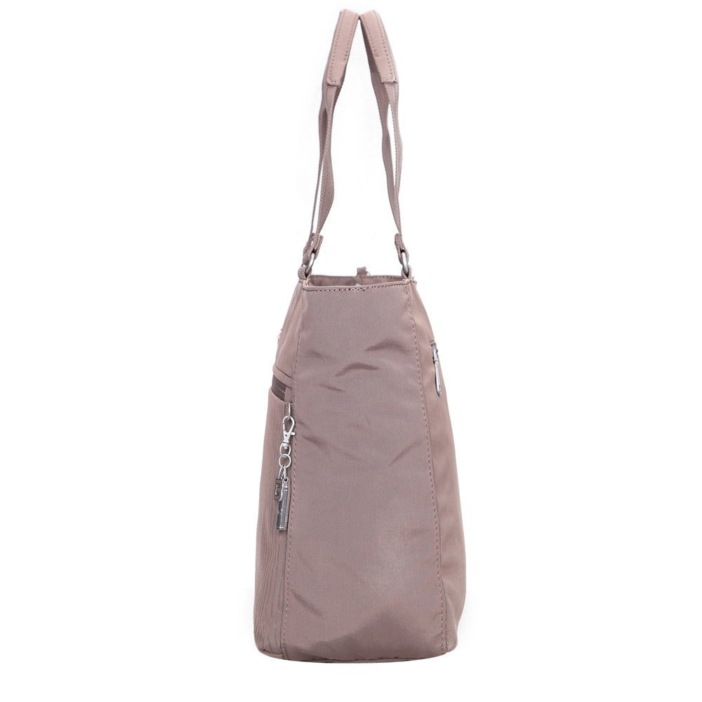 Tote Bag - Taylor Debossed Travel Tote Bag Side [Zinc Grey]