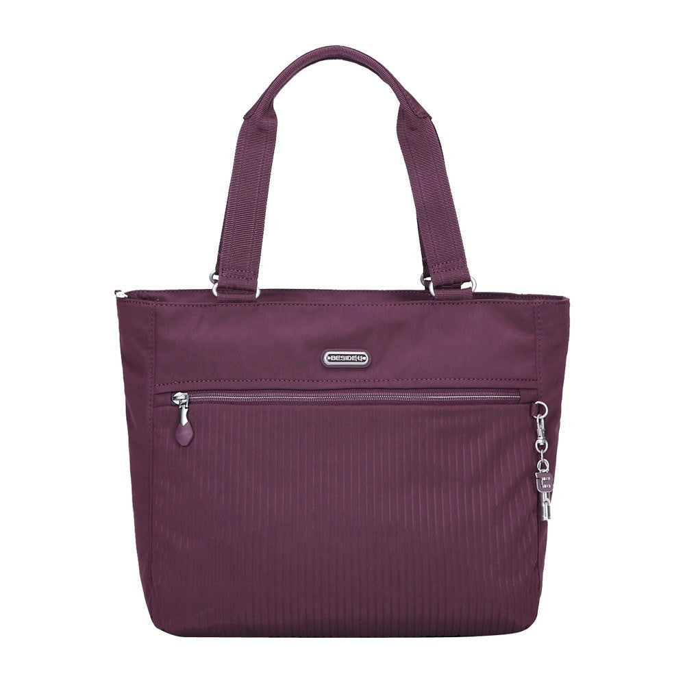 Tote Bag - Taylor Debossed Travel Tote Bag Front [Blackberry Wine]