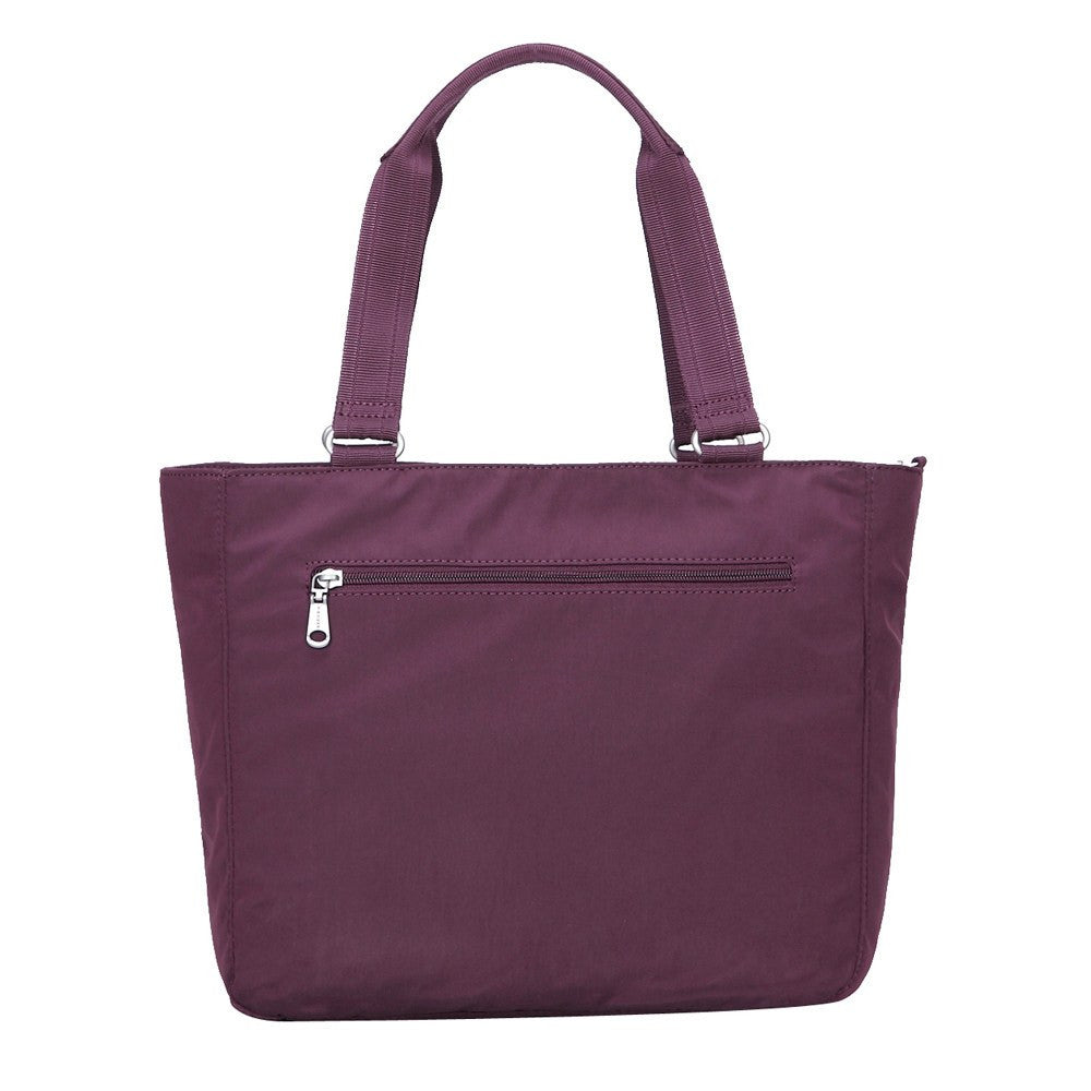 Tote Bag - Taylor Debossed Travel Tote Bag Back [Blackberry Wine]