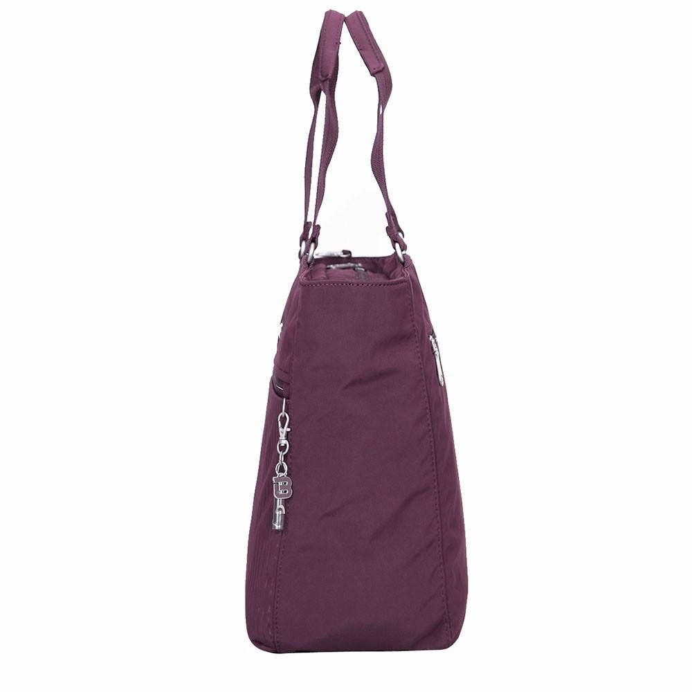 Tote Bag - Taylor Debossed Travel Tote Bag Side [Blackberry Wine]