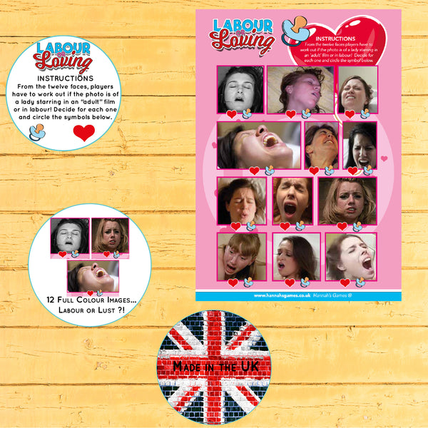 Labour or Loving Quiz Baby Shower Game