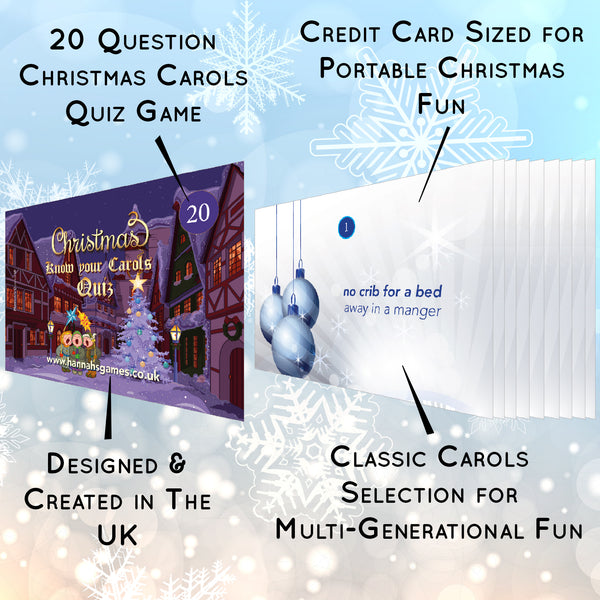 Know Your Carols Christmas Quiz - Music Trivia Fun by Hannah's Games