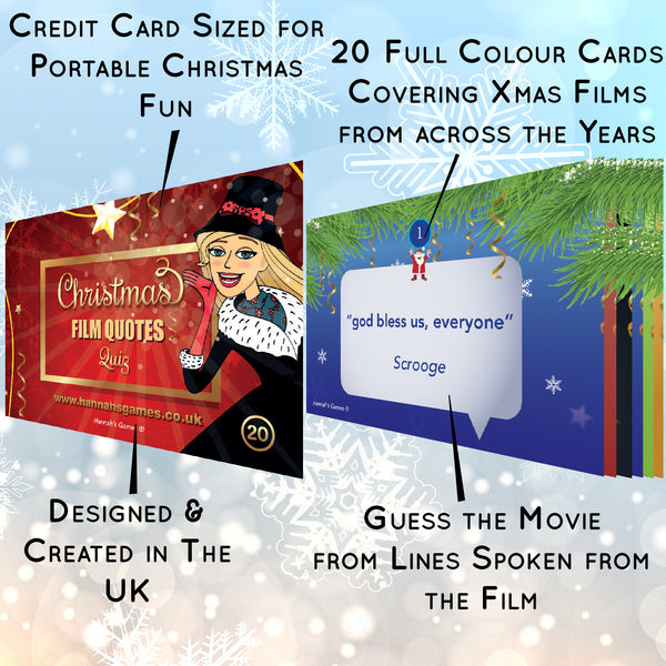 Christmas Film Quotes Quiz Game - Novelty Xmas Movie Lines Games Cards