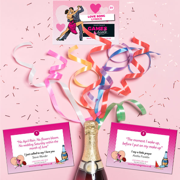 Love Song Quiz Hen Party Game