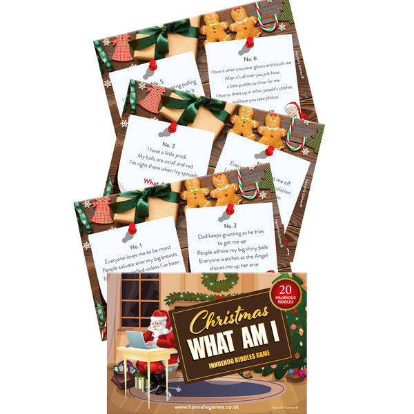 Xmas What Am I Game Innuendo for Adults - Adult Christmas Games Gifts & Activities