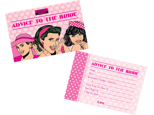 Advice to the Bride Hen Party Game