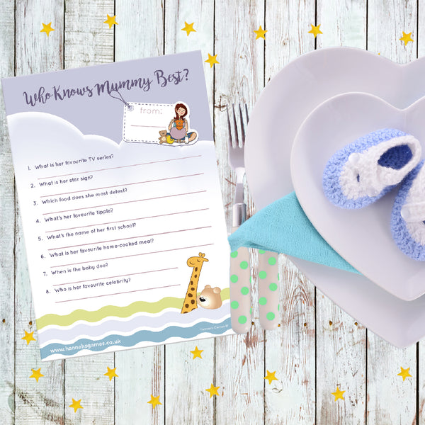 Who Knows Mummy Best Quiz for Baby Shower Games