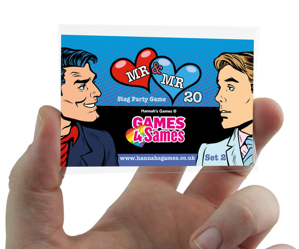 MR & MR SAME SEX STAG DO GAME Stag do Accessories for Gay Couples (set 2)