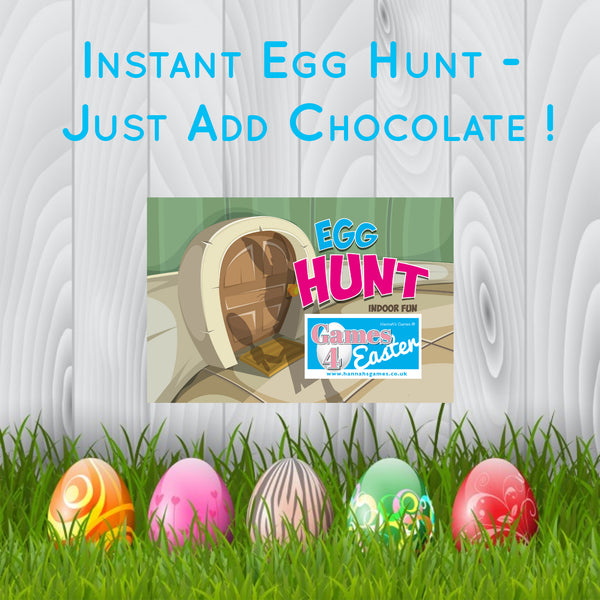 Indoor Easter Egg Hunt Clues Game - Easter Games