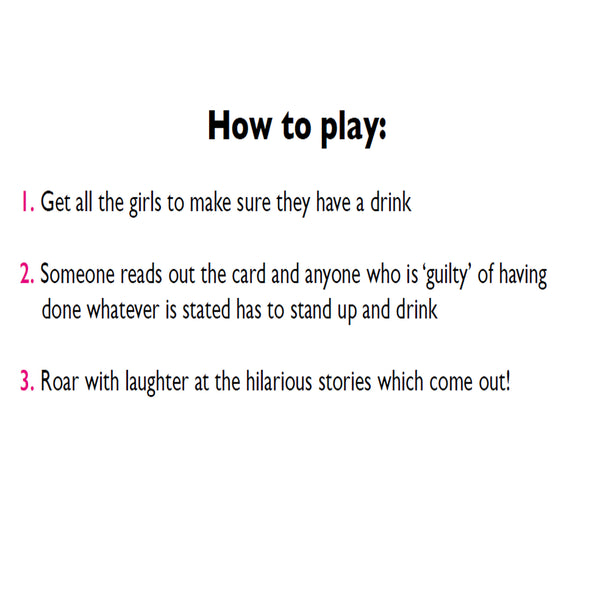 I Have Never Hen Party Game