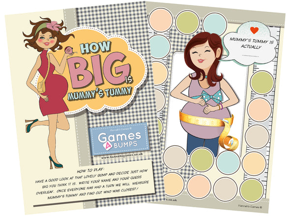 How Big is Mummy's Tummy Baby Shower Game