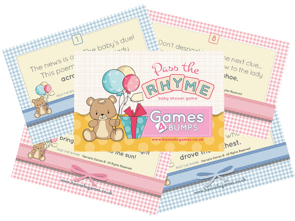 Pass the Rhyme Baby Shower Game