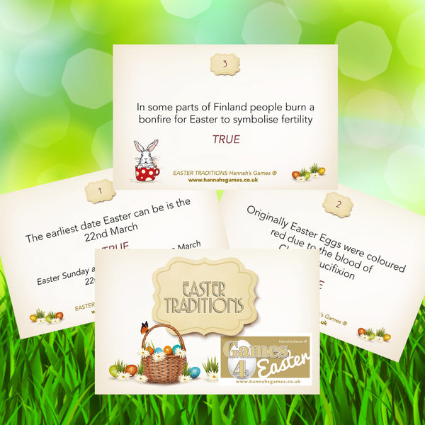 Credit Card Sized Easter Traditions True or False Quiz