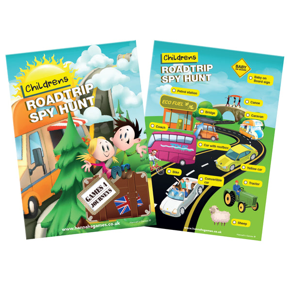 KIDS ROADTRIP BINGO family Travel Game for children & families