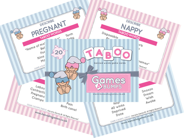 Taboo Guess The Word Baby Shower Game from Hannah's Games