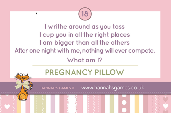 Baby Shower What Am I - 20 riddle pack - Cheeky Innuendo DIrty Minds Riddles