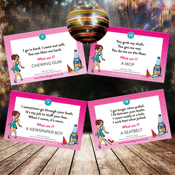 What Am I Hen Party Game Cards - Innuendo Dirty Minds Hen Party Games