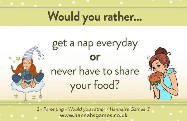 PARENTING WOULD YOU RATHER? GAME - Hilarious Baby Shower Game - Great Unisex Design