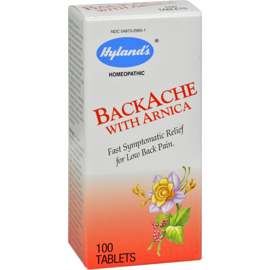 Mother Mantis: Hyland's Backache With Arnica - 100 Tablets Hyland's