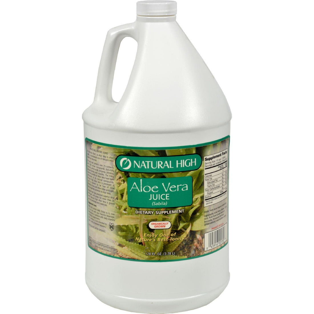 Mother Mantis: Natural High Aloe Vera Juice - Case Of 4 Gallons Natural High