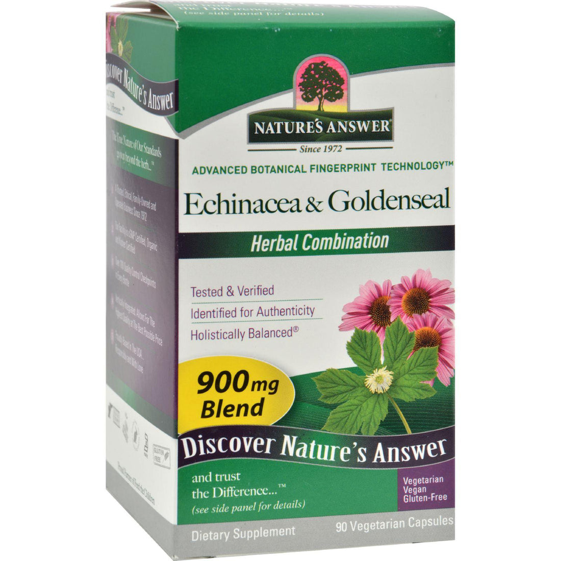 Mother Mantis: Nature's Answer Echinacea With Goldenseal - 90 Vcaps Nature's Answer